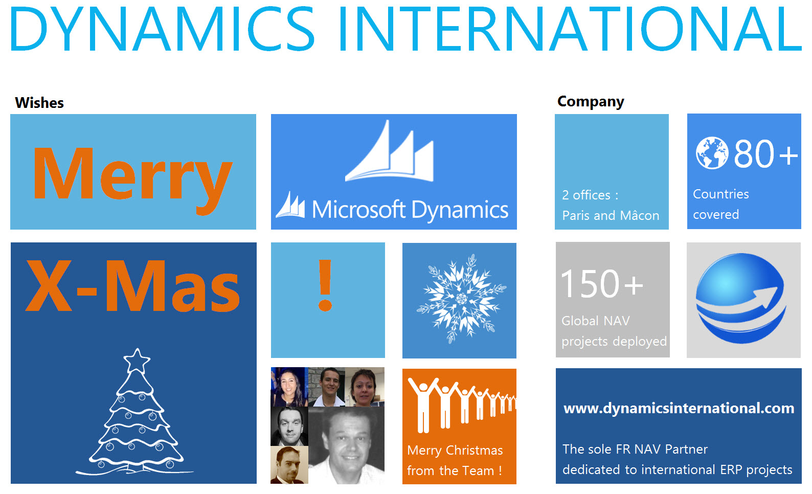 Voeux DynInter Noël 2013 - Christmas wishes - Global ERP - NAV